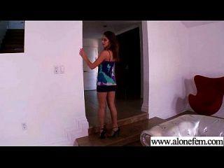 एकल सींग का सेक्सी लड़की छेद फिल्म में चीजों की सभी तरह का उपयोग 09