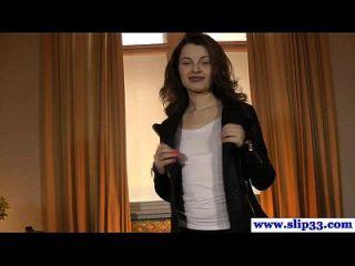 यूरो छात्रा लड़की के द्वारा बकवास के साथ Casted
