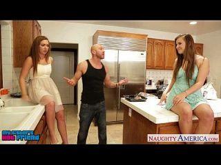 गर्म लड़कियों Jillian Janson और Maddy ओ` Reilly साझा मुर्गा
