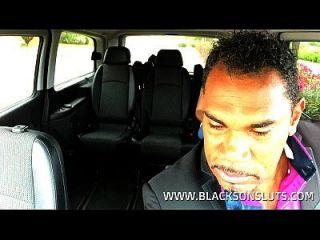 काले टैक्सी चालक युवा किशोर Fucks