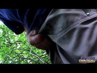 एक वन के पास विशाल Titted फूहड़ कमबख्त दादाजी