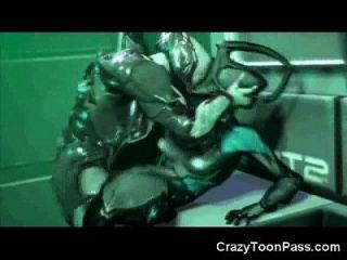 3 डी विदेशी लड़कियों एलियंस और मनुष्यों द्वारा तबाह!