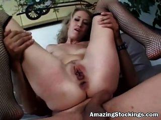 अद्भुत मोजा चरम बुत से मोजा में गुदा सेक्स