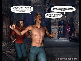 बाह्य अंतरिक्ष Scifi 3 डी समलैंगिक तून मोबाइल फोनों के लिए कॉमिक्स से खींचें क्वीन्स