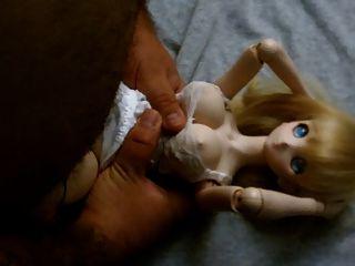 गोरा प्यारा मोबाइल फोनों Dollfie गुड़िया बकवास Onahole