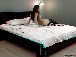 किशोरों की एक बिस्तर पर खेल लड़की - 3 डी पोर्न