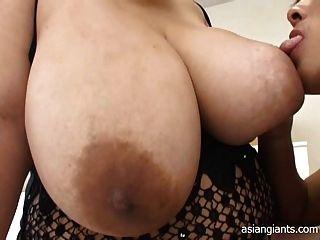 बड़े स्तन के साथ एशियाई Bbw