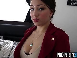 Propertysex - लैटिना बड़ा गधा कमबख्त के साथ रियल एस्टेट एजेंट