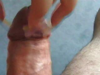 लंबे नाखून Scratching तंग और Handjob