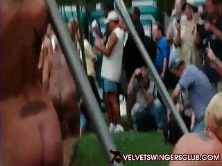 सभी नग्न रिसॉर्ट Panderosa मजाक मखमल Swingers क्लब मज़ा आ रहा है