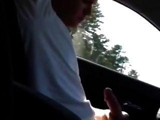 मेरी कार में Wank और एक बड़ा भार गोली मार