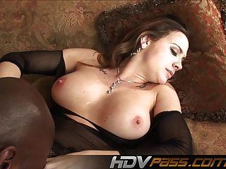 बड़े स्तन श्यामला में मोजा गहरी बकवास एक काला मुर्गा एन डी Jiz