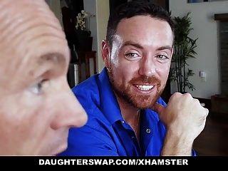 बेटियों को दो किशोर बेटियों स्वैप और उनके Dads बकवास