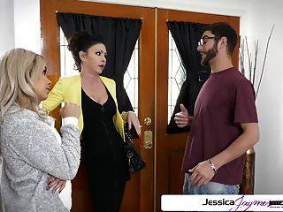 जेसिका Jaymes और आलिया हदीद एक बड़ा डिक कमबख्त, बड़ी लूट